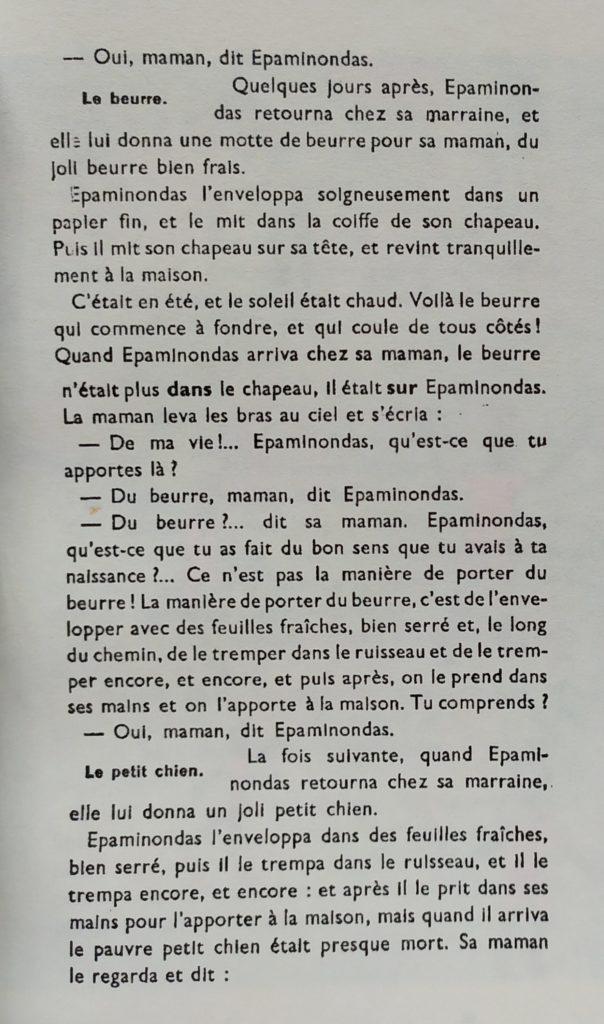 Conte Epaminondas et sa marraine 2ème partie