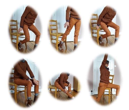 Photo exercices avec chaise